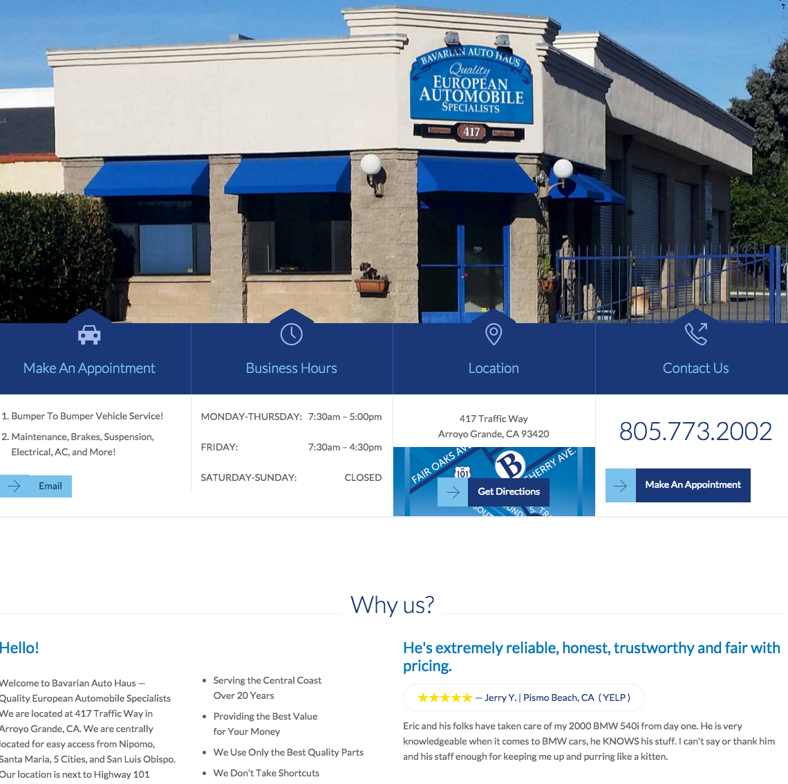 Bavarian Auto Haus Website.